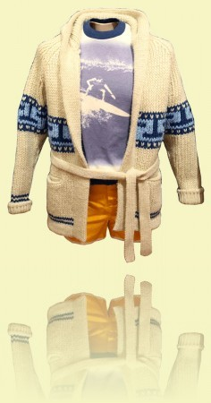 Mexican cardigan Crystal Cylinders, 1974–80 Vintage <br>Surf and Skate Emporium++