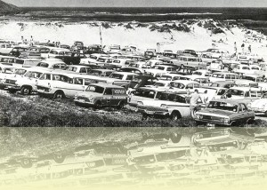 Long Reef car park, Jeff Carter, from Surf beaches of Australia's east coast by Jeff Carter, <br>published by Angus & Robertson, 1968. © Estate of Jeff Carter++