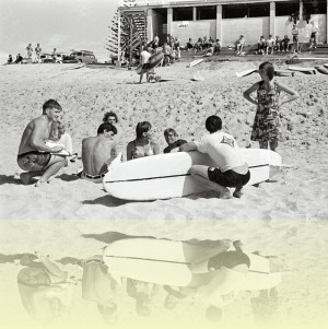 North Narrabeen Beach, Ron Perrott, c1960. Courtesy and © Estate of Ron Perrott++