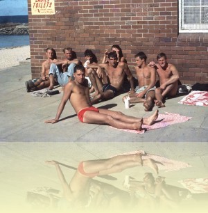 Boys at Dee Why, Ron Perrott, c1960s. Courtesy and © Estate of Ron Perrott++