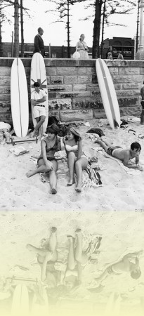 People on the beach, Manly, Leo Duyckers, 12 May 1967. Mitchell Library, State Library of New South Wales: PXA 907 Box 25 no.64. © Tourism NSW++