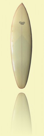 Shane Standard Shane Surfboards, Brookvale, c1974, foam, fibreglass and resin <br>Courtesy Steve Abbott++