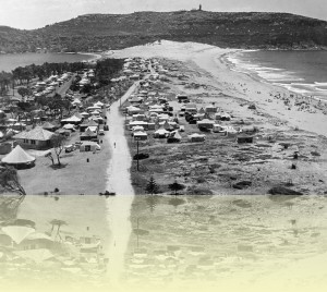 Camping area, Palm Beach Caravan Park Photographer unknown, c1950 Warringah Library ++