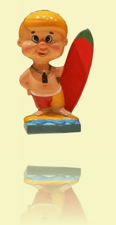 Surfer figurine,  Mid 1960s. Mick Mock Collection ++